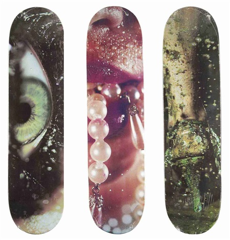 skatedecks set of 3 by marilyn minter