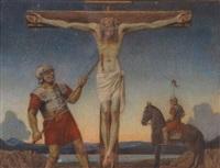 la crucifixion. le coup de lance by charles-louis rivier