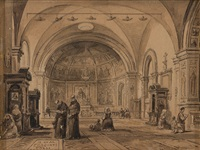 interno di chiesa by achille vianelli