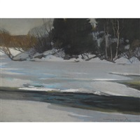 winter in the gatineau hills by frank charles hennessey