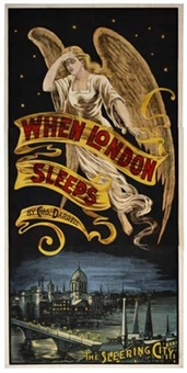when london sleeps ( in 3 parts) by posters: decorative