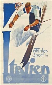 winter sport in italien by franz lenhart