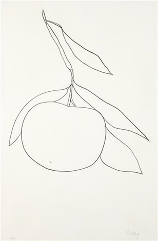 grapefruit pamplemousse from suite of plant lithographs by ellsworth kelly