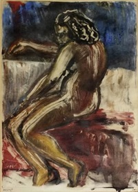 seated nude by lippy lipshitz