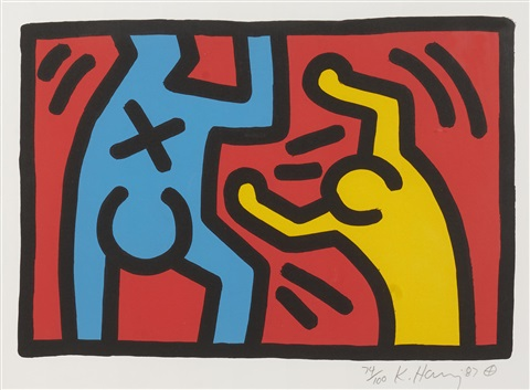 untitled set of 4 by keith haring