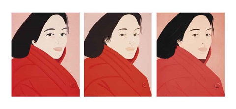 brisk day i iii by alex katz