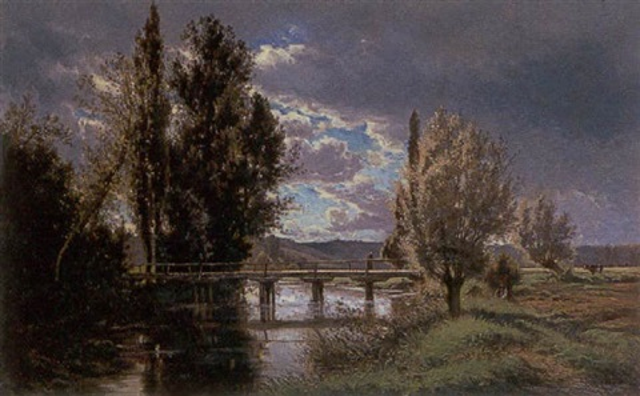 the old bridge touraine by alexandre charles joseph gittard