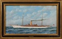 portrait of the screw steamer yacht atlanta by antonio jacobsen