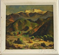 view of the san bernardino mountains/a california landscape by marian williams steele
