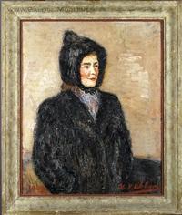 portrait de madame a. thibaut by henri victor wolvens