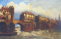 old london bridge in 1745 by joseph josiah dodd