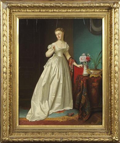 elégante à la robe blanche by florent willems