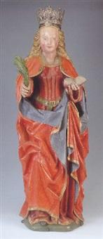 a female saint by jan van steffeswert