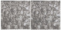 cheering crowd (in 2 parts) by wayne gonzales