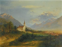 the new parish church in schaan by adolf obermüllner