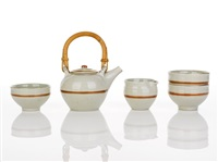 porcelain tea set by gwyn hanssen pigott
