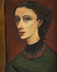 jeune femme au collier by charles counhaye