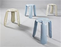 plopp stools (set of 4) by oskar zieta