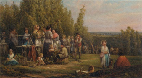 hop picking in kent by cecil gordon lawson