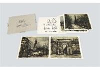 album paris (portfolio of 10 works) by bernard buffet