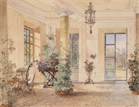 sala terrena in einem schlößchen by anton altmann the younger