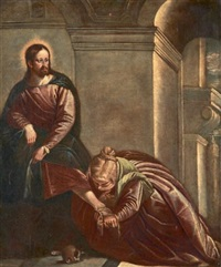 le christ et la madeleine by paolo veronese