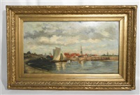 port en hollande by louis artan de saint-martin