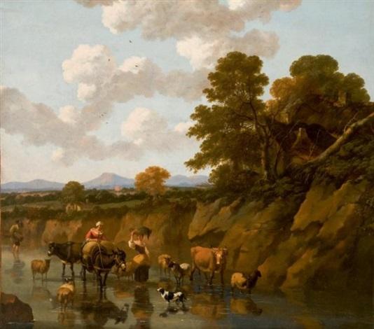 le passage de la rivière by nicolaes berchem
