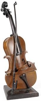 violon coupé iv by arman
