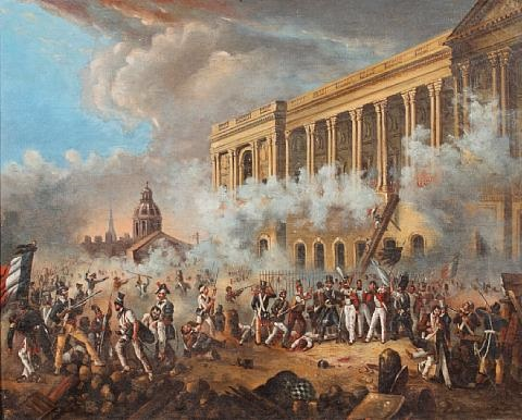 seige of the tuileries palace by french school 19 on artnet