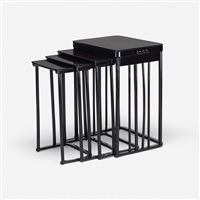 nesting tables, set of four by josef hoffmann