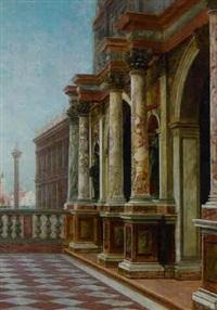 the dogana di mare, venice by george von hoesslin