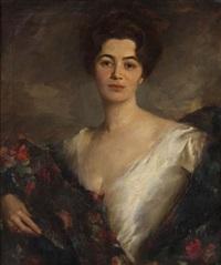 francportrait d'une dame by clemence-a. lenique de francheville