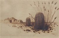 barrel cactus (number one) by george elbert burr