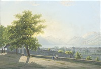 vevay am genfersee by johann heinrich bleuler the younger