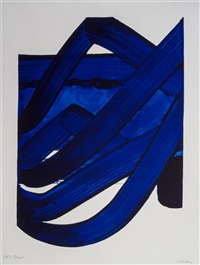 composition (from the official arts portfolio of the xxivth olympiad, seoul, korea) by pierre soulages