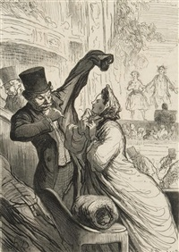 le couplet final by honoré daumier