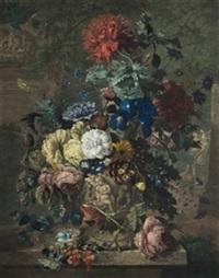 jarrón con flores by michiel van huysum