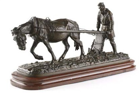 a horse and ploughman by constantine aleksandrovich klodt