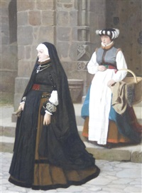 lady and maid by franz meyerheim