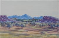 central australian landscape by benjamin landara