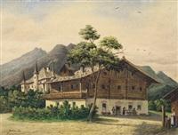 bauernhaus in zell am see, salzkammergut by josef erwin von lippert