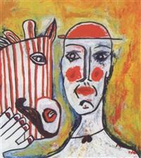 clown und zebra mit roten streifen by marino valdez