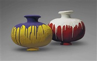 coloured vases by ai weiwei