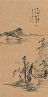 湖山春色图 by xiao junxian