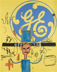 untitled (general electric ii) by jean-michel basquiat and andy warhol