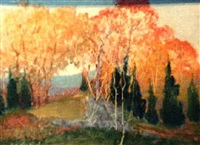 new england autumn by henry wellington wack