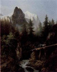 landschaft in den hochalpen by rudolf volmar