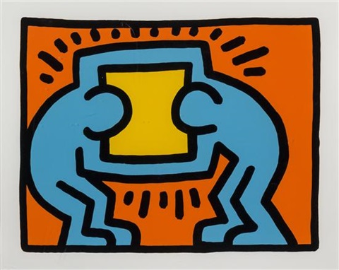 untitled plate vi by keith haring