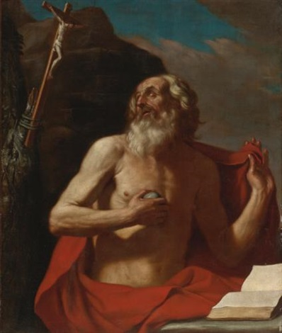 saint jerome by guercino
